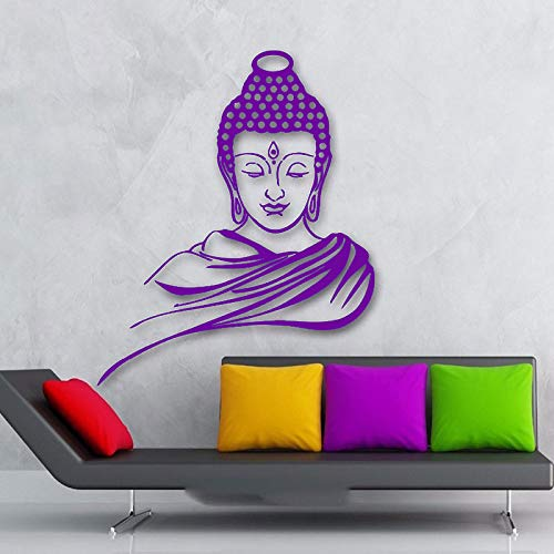 guijiumai Rownocean Indischer Buddha Religion Wandtattoo Abnehmbare Vinyl Aufkleber Wohnkultur Wandbild Raumdekoration Gott Yoga Muursticker 5 42X51 cm -
