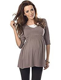 c56e47b2aeba3 Purpless Maternity Top Tunic A Line Pregnancy Shirt Blouse for Pregnant  Expecting Women 5200
