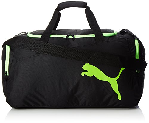 PUMA Pro Training M Bag Sporttasche, Puma Black-Green Gecko, 56 x 30 x 4 cm
