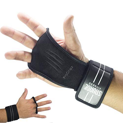 PROGRIPZ® |Premium 2.0| Fitness Trainingshandschuhe, Handgelenkschutz für Crossfit, Calisthenics, Freeletics, Pull Up Grips (L)