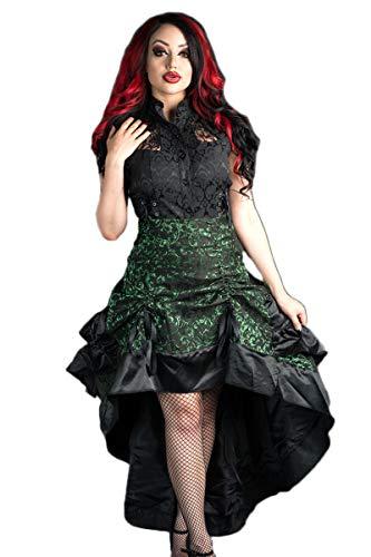 Dracula Clothing Rock Emerald Brocade Bustle