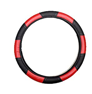 Vheelocityin 85698 Red and Black Steering Cover for Hyundai Grand i10