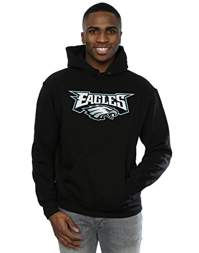 Majestic Herren NFL Philadelphia Eagles Logo Kapuzenpullover Small Schwarz Eagle Herren Hoodie