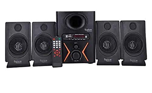 Spice Home Theater Model 4.1 Home Theater System with AUX,USB & FM & Bluetooth Multimedia Speaker System.(Black)