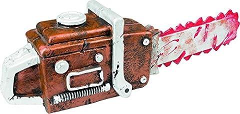 Blutige Horror Kettensäge Halloween Waffe braun-rot 53cm Einheitsgröße (Blutige Kettensäge)