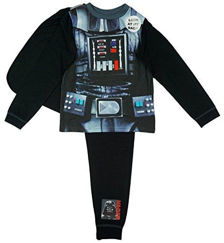 Jungen Offiziell Star Wars Darth Vader Kostüm Schlafanzüge mit Cape größen von 2–8 J - Schwarz - Schwarz, 3-4 Years, Schwarz (Pyjama-böden Jungen)