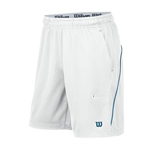 Wilson, Pantaloni corti da tennis Uomo Colorblock 8, Bianco (White), XXL