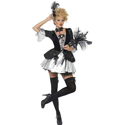 Sexy Barock Kostüm Barockkostüm schwarz silber S 36/38 Barock Verkleidung Barockkleid Damen Kostüm Rokoko Renaissance Kleid