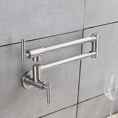 Lddpl Flexible Küchenarmatur Wand Einzigen Handgriff 304 Edelstahl Nickel Gebürstet Stahl Mixer Bar Taps Bad Waschbecken Wasserhahn -