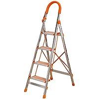 Bseack_store Escalera del hogar Ligero con Bandeja de Herramientas Plegable 4 Escalera Plegable de múltiples Funciones de escaleras móviles portátiles for tapicería/Ascendente