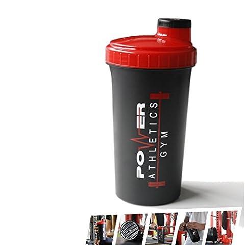 Shaker [Protein Eiweiß Mixer] für auslaufsichere Shakes - Trinkflasche für Eiweißshakes, Booster, Wasser, BCAAS - Für Krafttraining, Bodybuilding & Fitness - mit Schraubverschluss, Messskala &