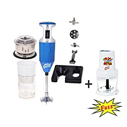 FirstChoice 200 Watts Blue Combo pack Blender with Attachment Plus 1 Chopper 250 Watts (Free)