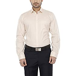 Van Heusen Mens Slim Collar Solid Shirt_Beige_40_203707808_8485
