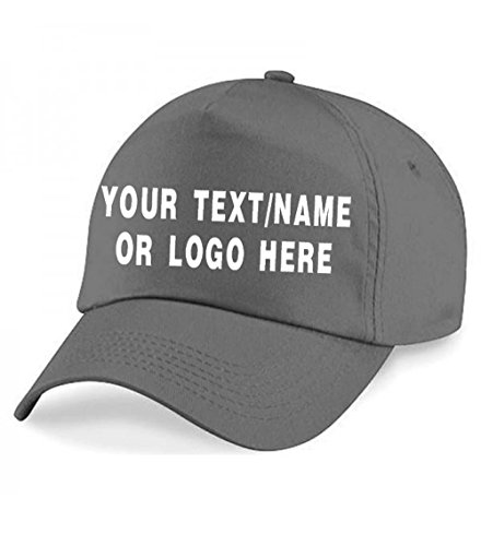 c0f457d3 Personalised Baseball caps Customised Adults Unisex Printed Caps Hats with  Text/Name Logo (Graphite