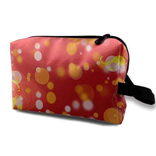 3a1a84fa46 Flowers Art Design Magic Makeup Bag Lazy Cosmetic Bag Portanle Travel  Handbag