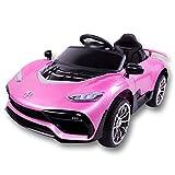 Kinder Elektroauto,Musik Licht Ferngesteuerter/Sitzen Kleinkind Car/Kinderwagen/Auto,Pink
