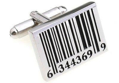 Barcode Strichcode Manschettenknöpfe Technologie Hochzeitsgeschenk