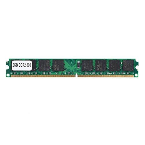 Richer-R Arbeitspeicher 2GB DDR2 800MHz, DDR2 2G 800 MHz PC2-6400 PC Speicher Ram,240Pin Laptop-Speicher RAM Memory Kompatibel für Intel/AMD PC2-6400 Desktop Computer - Pc4200 Sodimm Speicher