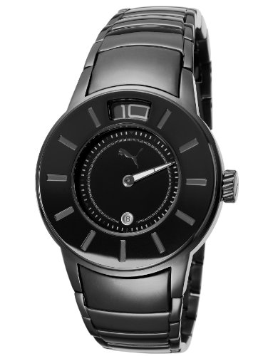 Puma Time Women's Quartz Watch Ring Metal Black PU102382004 with Metal Strap