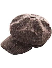 63c0f4fb28735 J-TUMIA Boinas de Lana para Mujer Gorritas clásicas Retro Gorra para Mujer  Sombreros Baker
