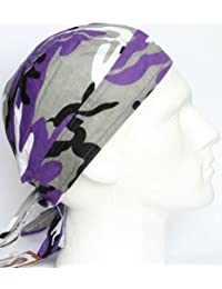purple gray camouflage ZANDANA formed bandana