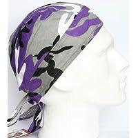 purple gray camouflage ZANDANA formed bandana