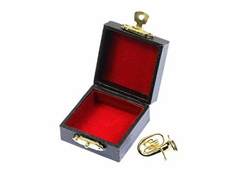 Miniblings Tubabrosche Brosche Tuba Anstecker Pin golden +Box Tubist Instrument