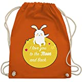 I love - I love you to the moon and back - Unisize - Orange - WM110 - Turnbeutel & Gym Bag