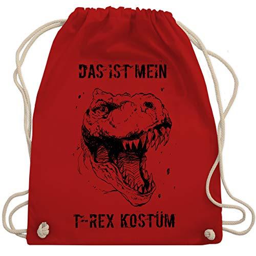 Karneval & Fasching - Das ist mein T-Rex Kostüm - Unisize - Rot - WM110 - Turnbeutel & Gym - Rot T Rex Kostüm