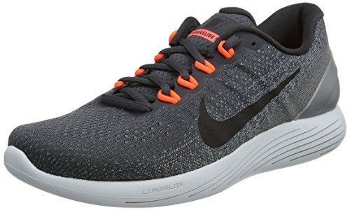 Nike Lunarglide 9, Scarpe da Corsa Uomo Grigio (Anthracite/Black/Cool Grey/Total Crimson/Pure Platinum)