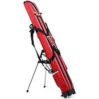 YWJ Caña De Pescar Bolsas 125CM, Impermeable Tipo Duro Barra De Pesca Carrier,Aparejos De Pesca De Gran Capacidad, Almacenamiento Herramientas, Rojo
