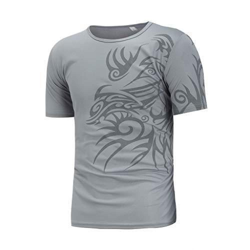 TWIFER Sommer T-Shirt Sommermode Tops Druck Männer Kurzarm T-Shirt -