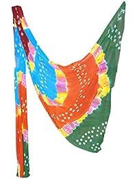 Fashion Store Women's Chiffon Jaipuri Bandhej Dupatta Stole,chunni (Multicolor, Free Size,) - B077TV2NNT