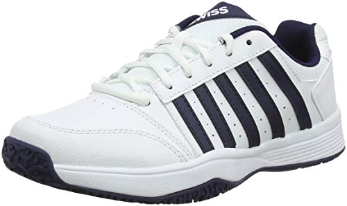 K-Swiss Performance KS Tfw Court Smash Omni, Scarpe da Tennis Uomo, Bianco (White/Navy 37), 42 EU