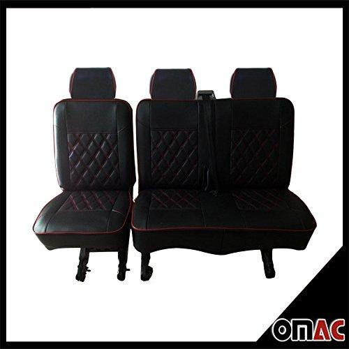 Dimond in Eco Pelle sedili sedili coprisedili, Nero Rosso VW T5T62+ 1