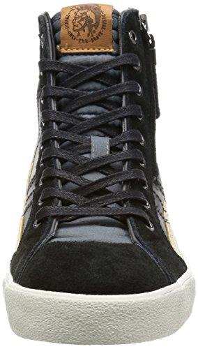 Diesel D-VELOWS D-STRING PLUS - Herren Schuhe Sneaker - Y01169 P0878 Castlerock Schwarz
