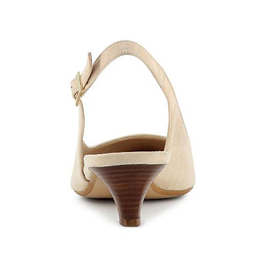 LIA escarpins sling daim beige clair