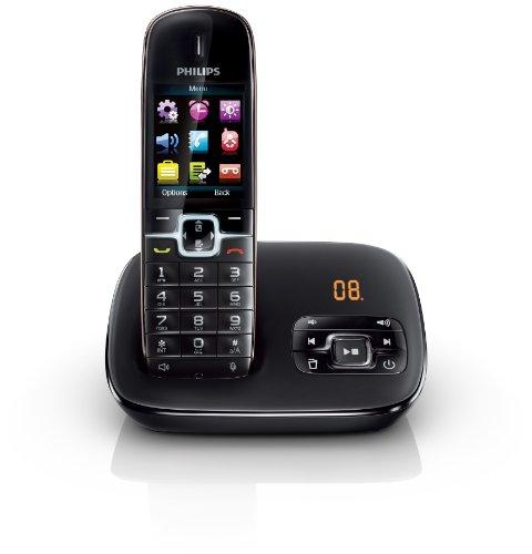 Philips CD6951B/DE BeNear Schnurlostelefon mit Anrufbeantworter schwarz