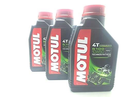 3 LITRI OLIO motore moto 4t MOTUL 5100 10W50 Technosynthese Sintetico 3LT NEW