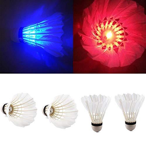 Rosesummer LED-Badminton-Bälle, leuchtet im Dunkeln, für Innen- und Außenbereich, 4 Stück