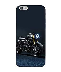 Fuson Designer Back Case Cover for Apple iPhone 6 Plus :: Apple iPhone 6+ (Motorcycle Racing Road rash Big wheels Yamaha)