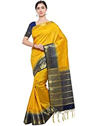 Florence Green Cotton Printed Saree With Blouse