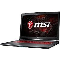 MSI GV72VR 7RF-698DE (43,9 cm/17,3 Zoll) Gaming-Notebook (Intel Core i7-7700HQ, 16GB RAM, 256 GB SSD + 1 TB HDD, Nvidia GeForce GTX 1060 mit 6GB, Windows 10 Home) schwarz/grau-anthrazit