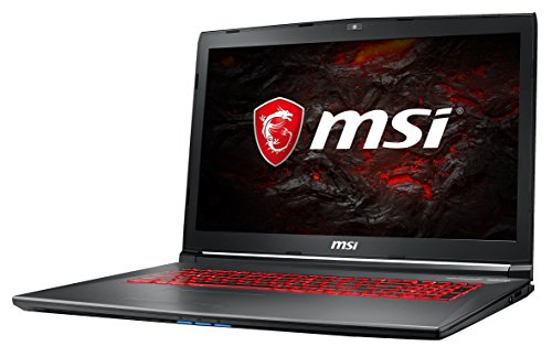 MSI GV72VR 7RF-698DE (43,9 cm/17,3 Zoll) Gaming-Notebook (Intel Core i7-7700HQ, 16GB RAM, 256 GB SSD + 1 TB HDD, Nvidia GeForce GTX 1060 mit 6GB, Windows 10 Home) schwarz/grau-anthrazit