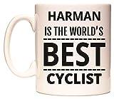 HARMAN IS THE WORLDS BEST CYCLIST Becher von WeDoMugs