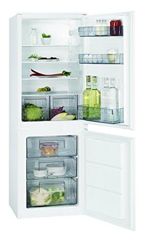 AEG SCB41611LS Einbau Kühl-Gefrier-Kombination mit Gefrierfach unten / 160 l Kühlschrank / 72 l Gefrierschrank / flexibler Kühlraum mit automatischem Abtauen / LowFrost / A+ / Höhe: 158 cm / weiß