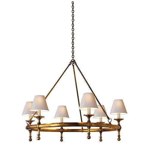 SaintMossi® Modern Unterputzmontage Wohnzimmer Deckenleuchte Kupfer Überzug 6*E14 Base Glühbirnen Erforderlich