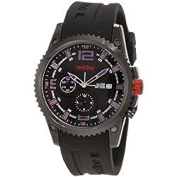 red line Herren 50031YM-BB-01BL Boost Black Dial Black Silicone Armbanduhr