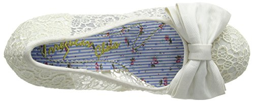 Irregular Choice Mal E Bow, Escarpins femme Blanc cassé (crème)