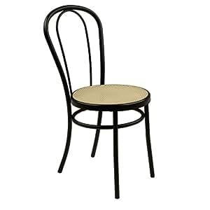 Bistrot Chaise noire style bistrot Noir - Alinea 41.0x87.0x50.0.